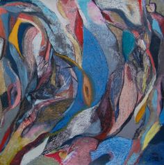 Katherine Aimone, Laurie, 2012, 46 x 46 in., oil pastel on paper