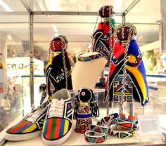 South African items by Esther Mahlangu and Grace Masango at the VMFA shop.