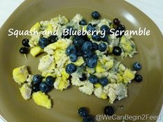 Squash and Blueberry Scramble