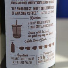 Secret Squirrel cold brew coffee - oh so good - low acid, high in flavor - mmmmm