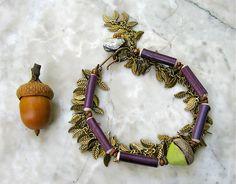 acorn . . . bracelet . . . by marthasrubyacorn on Etsy, $37.00