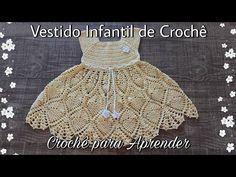 Moda Crochet, Knit Crochet, Crochet Hats, Crochet Girls Dress Pattern, Baby Princess, Chloe Grace, Baby Knitting, Crochet Bikini, Girls Dresses