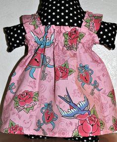 Baby Girl Sun Dress  Rockabilly Swallows  Size by wigglebuttbaby, $28.00 - :D