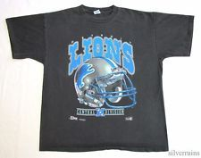 DETROIT LIONS Vintage T Shirt 90's NFL Football SPORTS MEMORABILIA