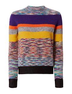Missoni Striped Crew Neck Knit