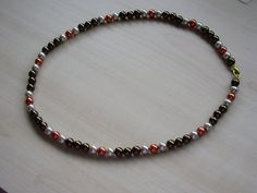 Pearl Necklace - Brown, Copper and Beige £17