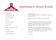 Applesauce Bread Recipe - Machine Shed www.machineshed.com