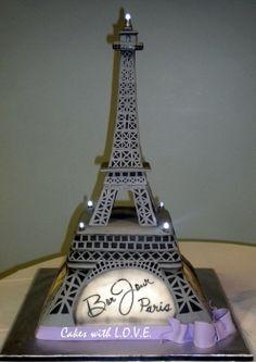 Eiffel Tower :) - by mycakeswithlove @ CakesDecor.com - cake decorating website