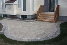 curved stone patio