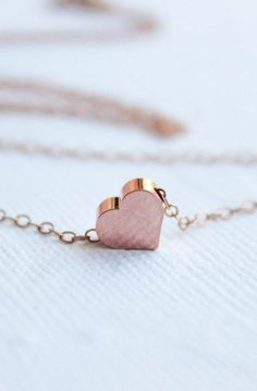 Rose Gold Heart Necklace #jewelrynecklaces