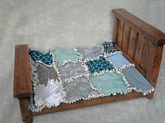Doll Modern Rag Quilt  Photography Prop by modernragquilts on Etsy, $45.00