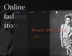 """Dai un'occhiata a questo progetto @Behance: """"MARANI fashion store website"""" https://www.behance.net/gallery/38237693/MARANI-fashion-store-website"""