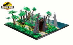 ThisJurassic ParkLego Diorama Combines All Four Movies Into One Massive Display