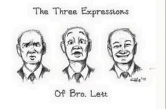 The many expressions of a brother we all love, Brother Lett, drawn by Crystal Hill from Oregon, USA. That is so sweet :D Jw Meme, Jw Jokes, Jehovah's Witnesses Humor, Jehovah S Witnesses, Jehovah Witness, Psalm 133, Jw Bible, Bible Truth, Family Worship Night
