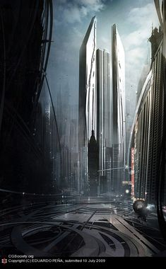Tall Skyscraper City Scifi - lots of cool stuff on the click through here