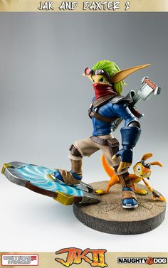 Jak and Daxter statuette Jak and Daxter II Gaming Heads