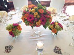 Beautiful arrangement I created for a summer wedding show