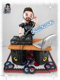 40th Birthday, First Birthday Parties, First Birthdays, Dj Cake, Cupcake Cakes, Cakes For Men, Baby Strollers, Cake Decorating, Musicals