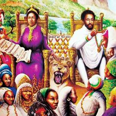 When I was a little girl, I knew more about Ethiopia and King Solomon before even Jesus. In fact, my mother told me that while Jesus was on the cross, he looked to Ethiopia. I never knew why she told me the stories then. Rastafarian Culture, Rasta Man, Jah Rastafari, Haile Selassie, African Royalty, Afro Art, African American Art, King Of Kings, History Facts