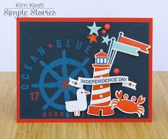 Sea to Shining Sea Card by Kim Kesti