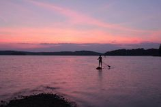 Paddle boarding on Lake Santeetlah is one of our favorite things to do!
