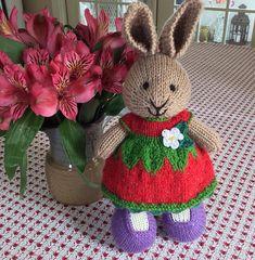suzymarie's Strawberry Blossom Dress Bunny