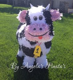 Hey, I found this really awesome Etsy listing at https://www.etsy.com/listing/172448451/barnyard-animal-pinata-custom-cow-pinata