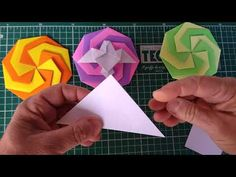 Origami Modular, Ice Tray, Youtube, Diy, Crafts, Lollipop Candy, Paper, Origami Instructions, Mandalas