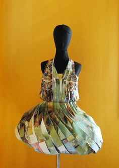 Josie Elizabeth Davis - paper dress