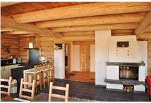 Log Homes Kitchen Log Home Kitchens, Log Homes, Pergola, Outdoor Structures, Outdoor Decor, Home Decor, Timber Homes, Homemade Home Decor, Log Houses