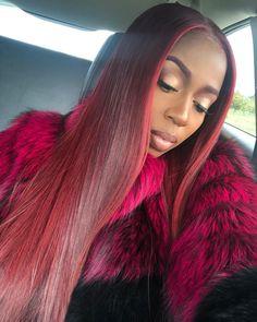 Red Sew In Weave : weave, Weave, Ideas, Hair,, Bougie