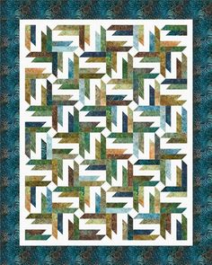 Spangled designed by Cozy Quilt. Features Artisan Batiks: Natural Formations by Lunn Studios, shipping to stores March 2016. Roll up friendly! #artisanbatiks