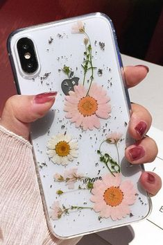 Luxe Pressed Flower Protective Phone Cases For iPhone XS & i.- Luxe Pressed Flower Protective Phone Cases For iPhone XS & Pink Pressed Flower iPhone 6 Plus, iPhone 7 Plus, iPhone 8 Plus & iPhone X Protective Case For cute girls - Diy Iphone Case, Iphone Phone Cases, Iphone Printer, Pink Iphone, Iphone App, Iphone 6 Plus Case, Iphone Ringtone, Iphone Cases For Girls, Diy Case