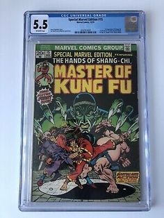 SPECIAL MARVEL EDITION #15 CGC 5.5 1ST SHANG-CHI Dec 1973 Marvel Comics  | eBay Marvel Universe Characters, Heroes For Hire, Comic Books For Sale, Comic 8, Conan The Barbarian, White Pages, Batwoman, Silver Age, Comic Character