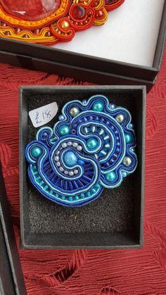 #soutache #brooch UK£18   #jewellery #textileart #handmade #beads