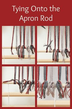 Whether you weave on a multishaft loom or a rigid-heddle loom, you need to have some way of fastening your warp to the cloth beam. Loom Knitting Patterns, Weaving Patterns, Knitting Tutorials, Free Knitting, Stitch Patterns, Tablet Weaving, Loom Weaving, Hand Weaving, Peg Loom