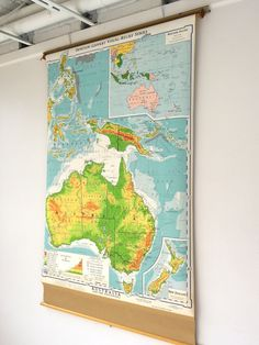 Finally got a roller school map - and no wall in our house is big enough!!  This one isn't mine!