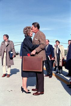 President and Mrs. Reagan...so sweet a kiss goodbye