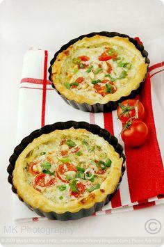 Wild Garlic Pesto and Tomato Tartlettes