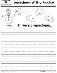 Leprechaun Printable Writing Practice Page {free printable}