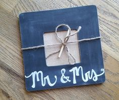 Rustic Mr. and Mrs. Frame  black and white by whatsyoursigndesigns