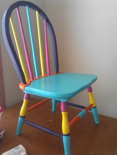 Fun project! Colorful child's chair!