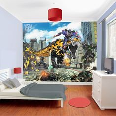 Walltastic Transformers Age of Extinction Wallpaper Mural - http://godecorating.co.uk/walltastic-transformers-age-of-extinction-wallpaper-mural/