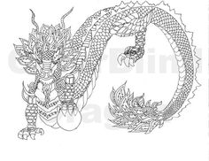 Dragon, coloring pages, midevil dragon, chinese art, dragon, flaming dragon…
