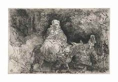 Rembrandt, The flight into Egypt: crossing a brook, The Rembrandt House Museum, Amsterdam. Rembrandt Etchings, Holy Family, Gradient Color, Art History, Find Art, Framed Artwork, Giclee Print, Amsterdam, Egypt