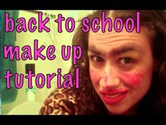 BACK TO SCHOOL MAKE UP TUTORIAL! - YouTube Miranda Sings, Back Off, Outdoor Art, Animal Design, Celebrity Weddings, Travel Quotes, Art Education, Hilarious, Funny