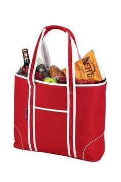 Red Large Insulated Cooler Tote