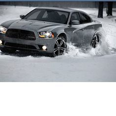 Dodge Charger just plowing through the snow. #cars #motorcycles #cycles