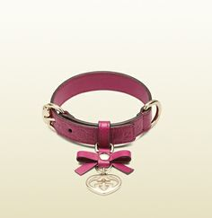 microguccissima leather dog collar. Who knew Gucci made pet accessories...
