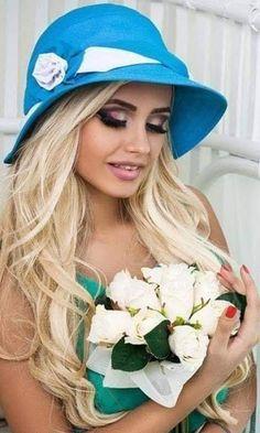 Hats For Women, Girl Hairstyles, Blonde Hair, Beauty, Beautiful, Fashion, Moda, Yellow Hair, Fashion Styles